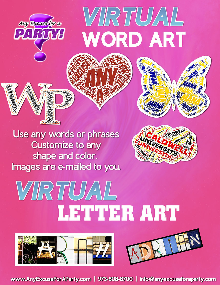 Virtual Word Art and Letter Art