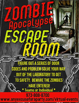 Zombie Escape Room - Virtual