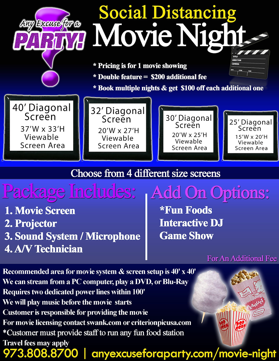 Social Distancing Movie Night Flyer with