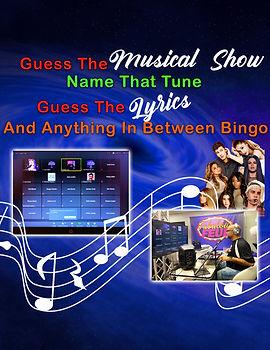 Bingo - Guess The Musical, Tunes, Lyrics