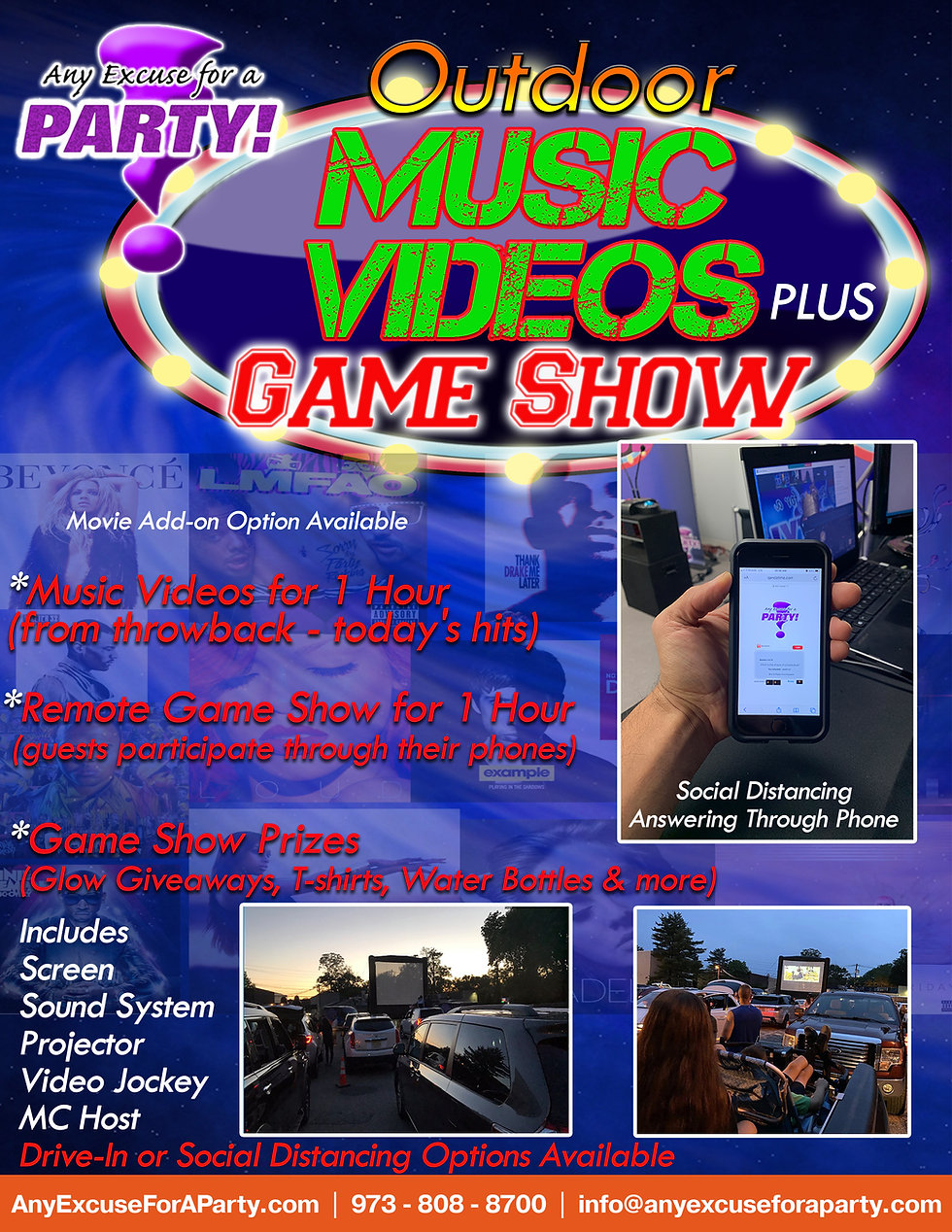 Outdoor Music Videos Plus Game Show wo p