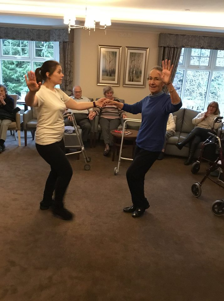 Care home dance activity