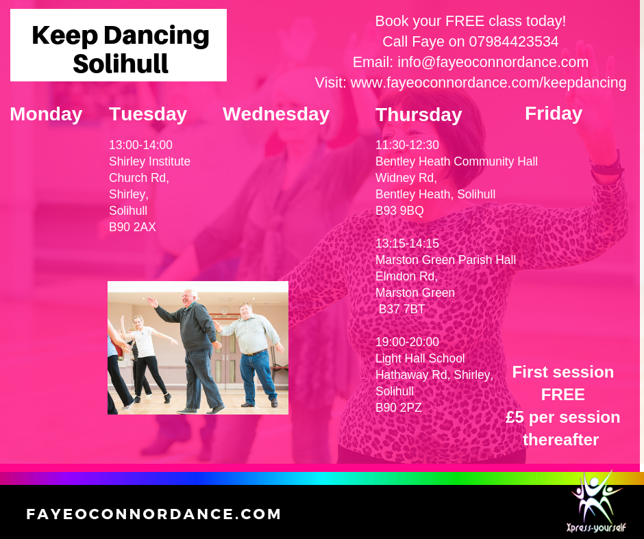 Older adults Dance class Solihull