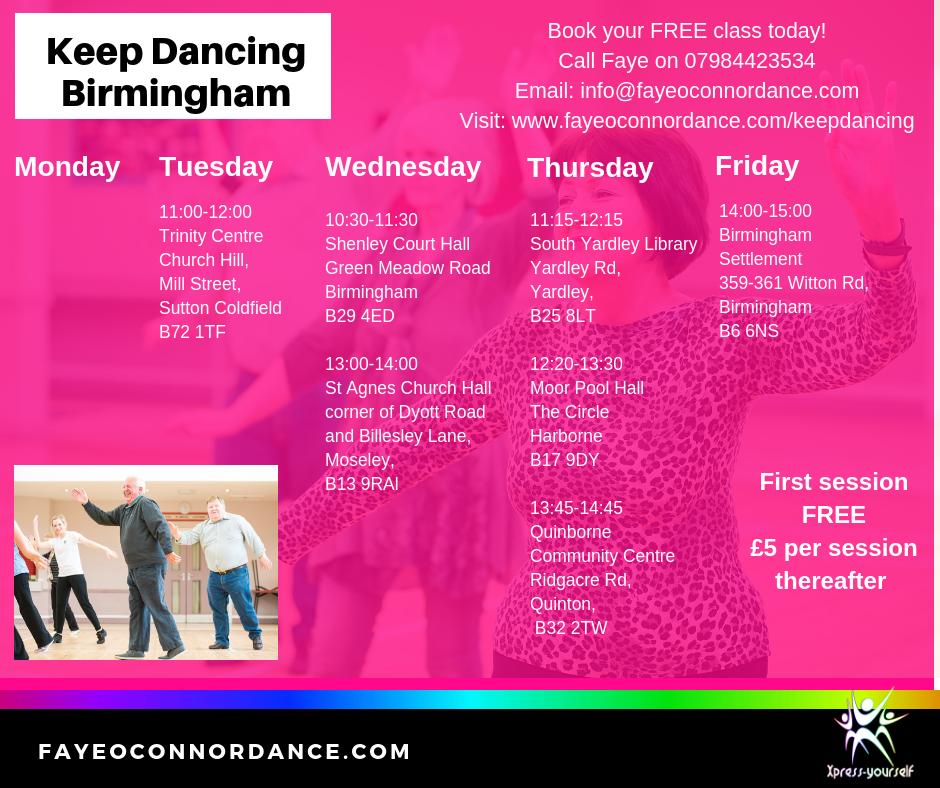 Older adults dance Birmingham