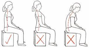 Sitting correct posture