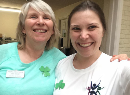 Celebrating St. Patricks Day at West Eaton Nursing Home