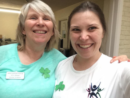 Celebrating St. Patricks Day at West Eaton Nursing Home