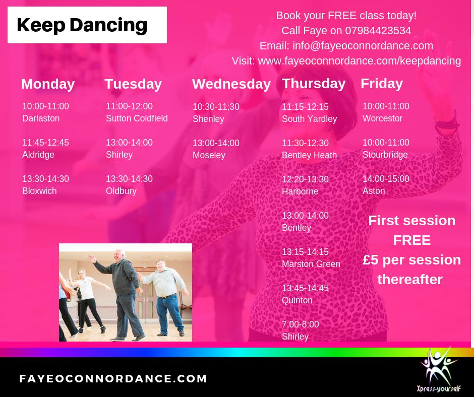 Older adults dance, West Midlands