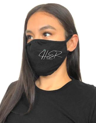 Her Vagenda Logo Black Mask