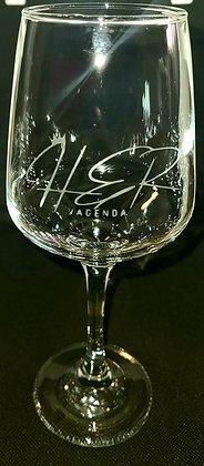 Her Vagenda Etched Wine Glasses
