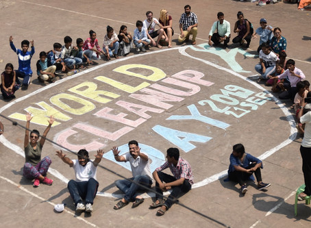 """Kolkata celebrates World Cleanup Day with """"Art on the Ghat"""""""