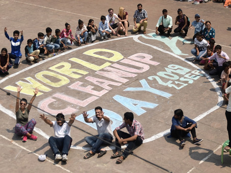 "Kolkata celebrates World Cleanup Day with ""Art on the Ghat"""
