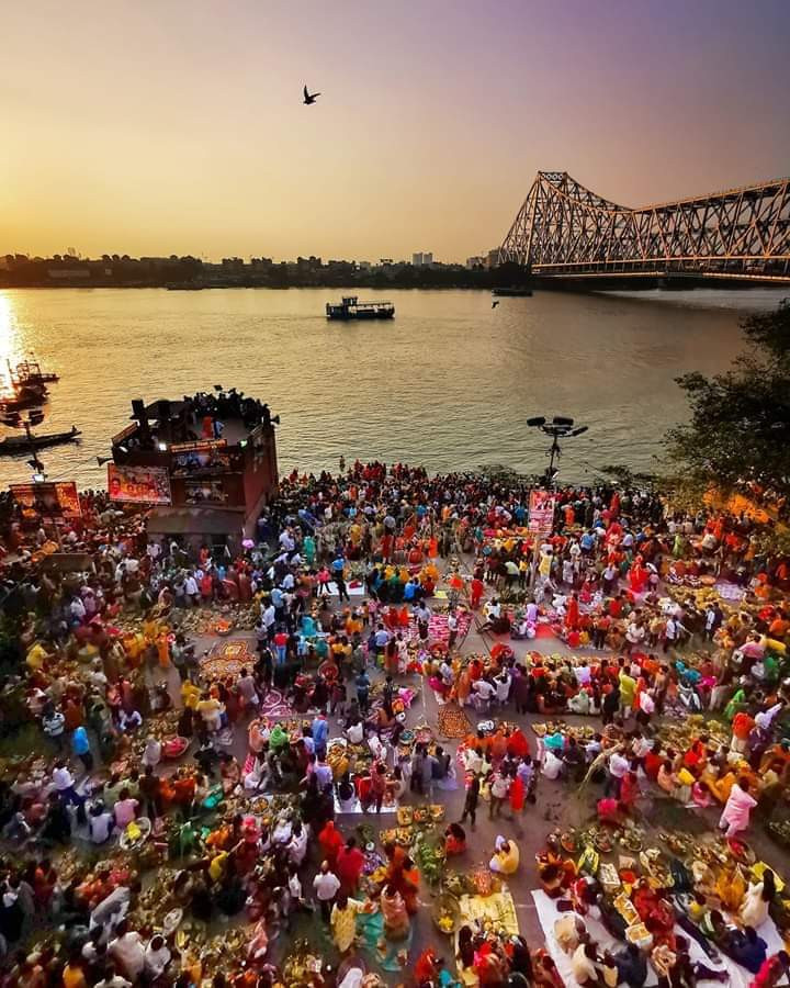 Ganga Ghat during festival times