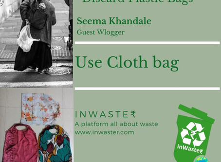 Use Cloth Bags instead of Plastic Bags