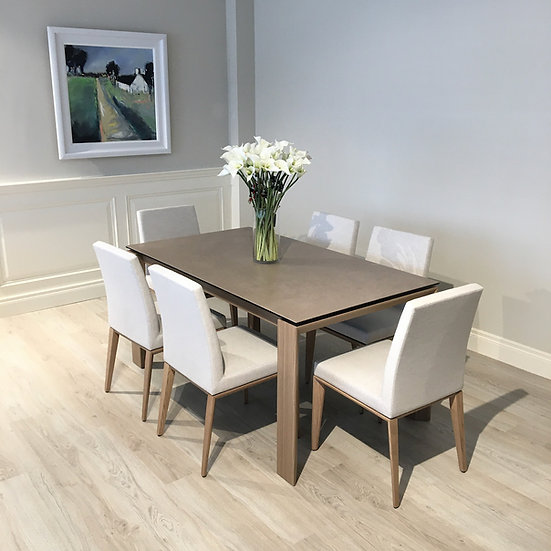 Calligaris Omnia table & 6 Bess chairs