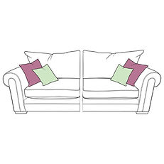 TORWORTH LARGE SPLIT STANDARD BACK SOFA