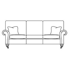 BELVEDERE 3 SEATER SOFA 3 CUSHIONS