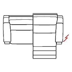 ETNA 208cm SOFA RHF POWER RECLINE