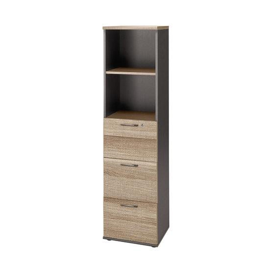 Hazz Tall 3 Drawer 1 Shelf Unit