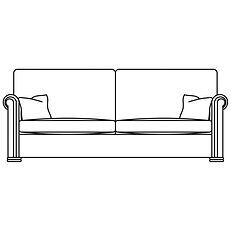 WALDORF 3 SEATER (2 CUSHION OPTION)