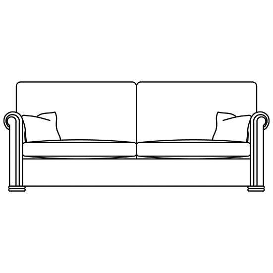 Waldorf 3 Seater Sofa (2 Cushion option)