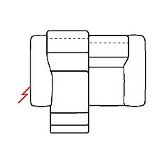 MEGAN 176cm SOFA POWER RECLINE LHF