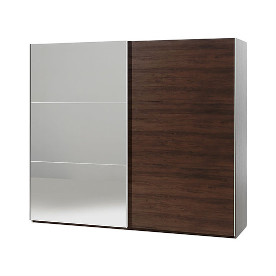 Halle Walnut 250cm Slide Wardrobe
