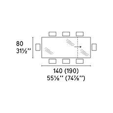 OMNIA TABLE 80 X 140 (190)cm
