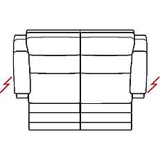 ETNA 209cm SOFA TWIN POWER RECLINE