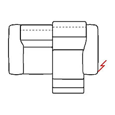 MEGAN 196cm SOFA POWER RECLINE RHF