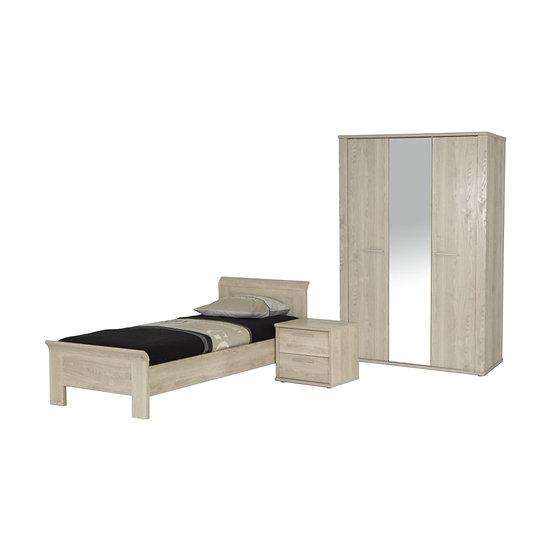 Niva Bedroom Set with 3 Door Wardrobe
