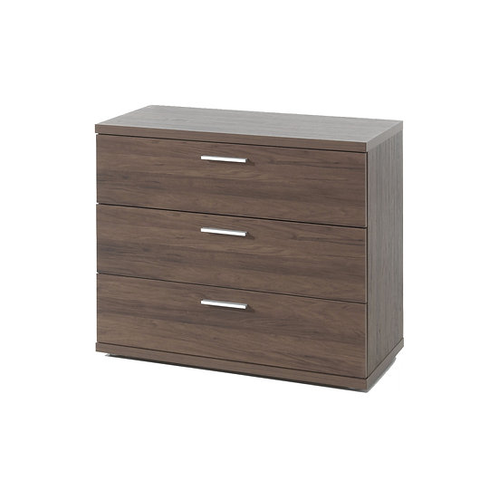 Halle Walnut 3 Drawer Chest