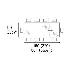 OMNIA TABLE 90 X 160 (220)cm