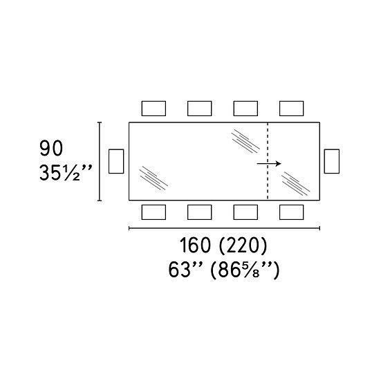 Omnia Table 90 x 160(220)