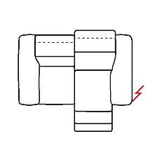 MEGAN 176cm SOFA POWER RECLINE RHF