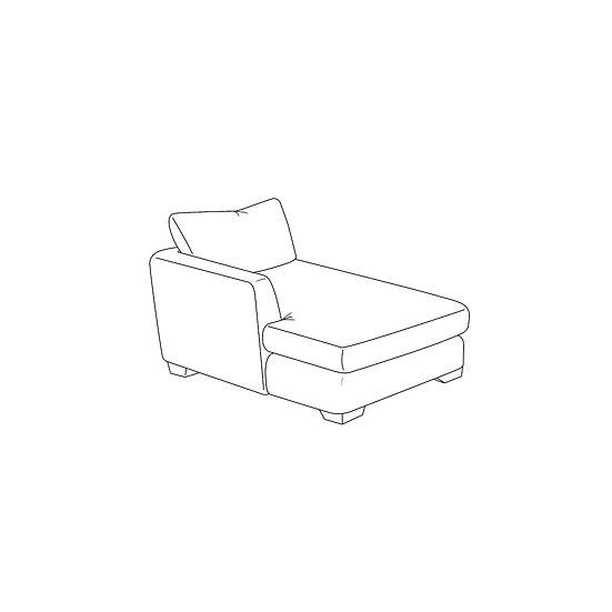 Marino 1 Arm Chaise LHF