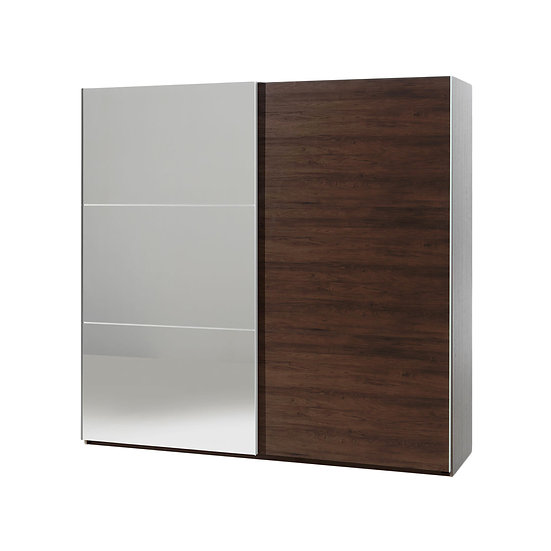 Halle Walnut 200cm Slide Wardrobe