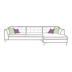 Lugano Large Chaise Sofa