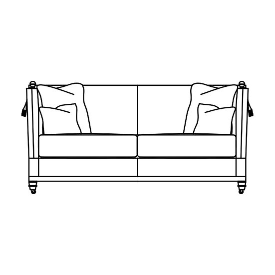 Trafalgar 2.5 Seater Cushion Back