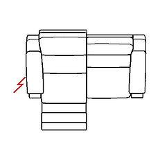 ETNA 187cm SOFA LHF POWER RECLINE