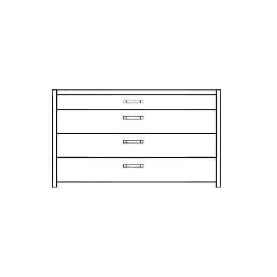 Novasol 4 Drawer Wide Chest