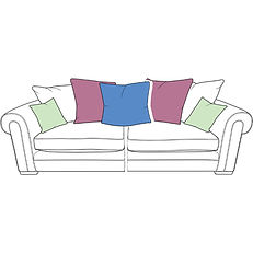 TORWORTH XL SPLIT PILLOW BACK SOFA
