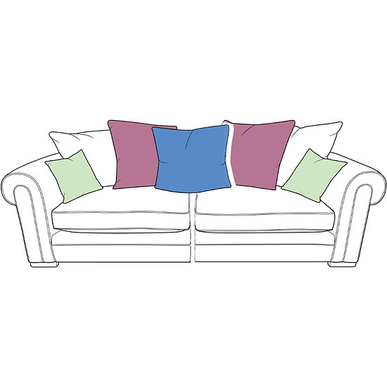 Torworth XL Spilt Pillow Back Sofa