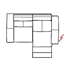 ARIA 185cm SOFA RHF POWER RECLINE