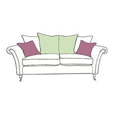 CHATSWORTH LARGE PILLOW BACK SOFA