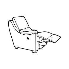 ALBANY POWER RECLINER ARMEND LEFT HANDED