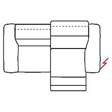 MEGAN 216cm SOFA POWER RECLINE RHF