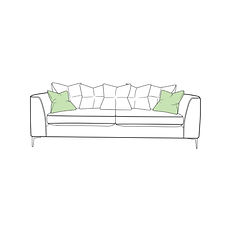 Lugano Extra Large Pillow Back Sofa