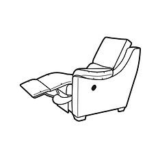 ALBANY POWER RECLINER ARMEND RIGHT HANDED