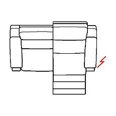 ETNA 187cm SOFA RHF POWER RECLINE